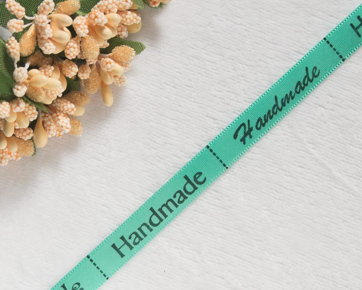 Лента Handmade мята 45*10мм/4шт.