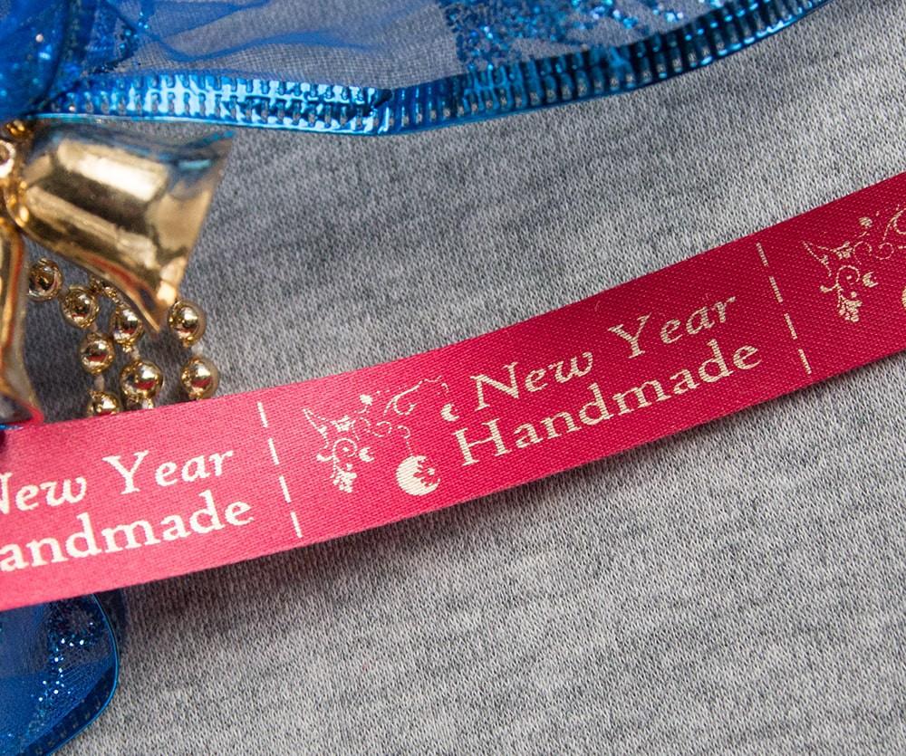 ТОЛЬКО У НАС! Лента ХМ новогодняя красный+золото 10шт
