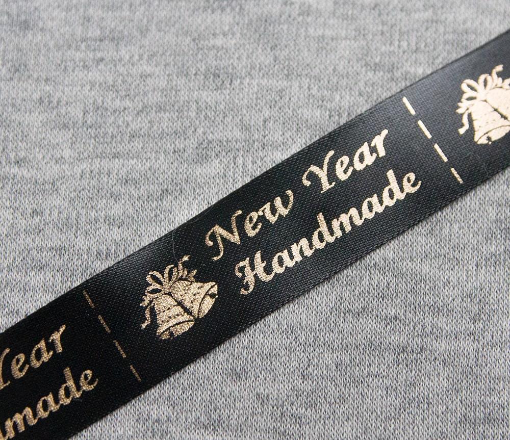 ТОЛЬКО У НАС! Лента ХМ новогодняя черный+золото 10шт