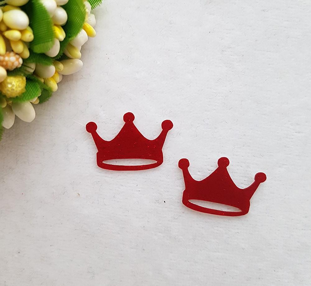 Корона 23*16мм  красный