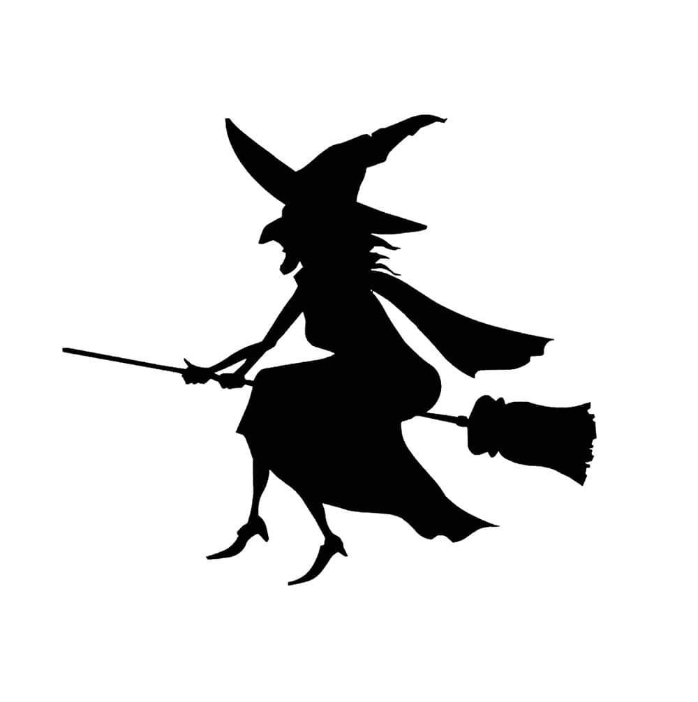 """Наклейка """"Ведьма на метле"""" 6*5,3см Цвет выбирайте ниже"""