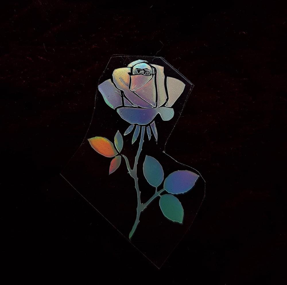 Термотрансфер наклейка роза радужная 3*2см (другие цвета выбирайте ниже)