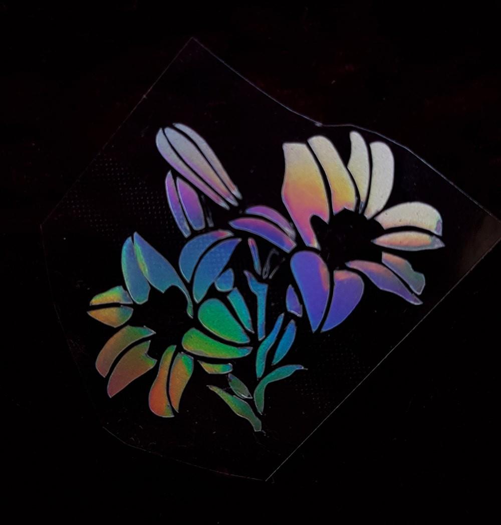 Термотрансфер наклейка цветок радужный 2,3*2,8см (другие цвета выбирайте ниже)
