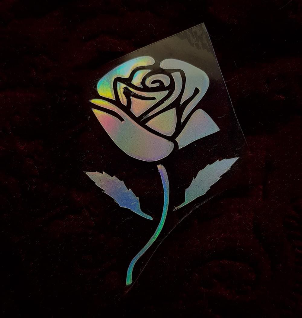 Термотрансфер наклейка цветок радужный 2,1*3,3см(другие цвета выбирайте ниже)