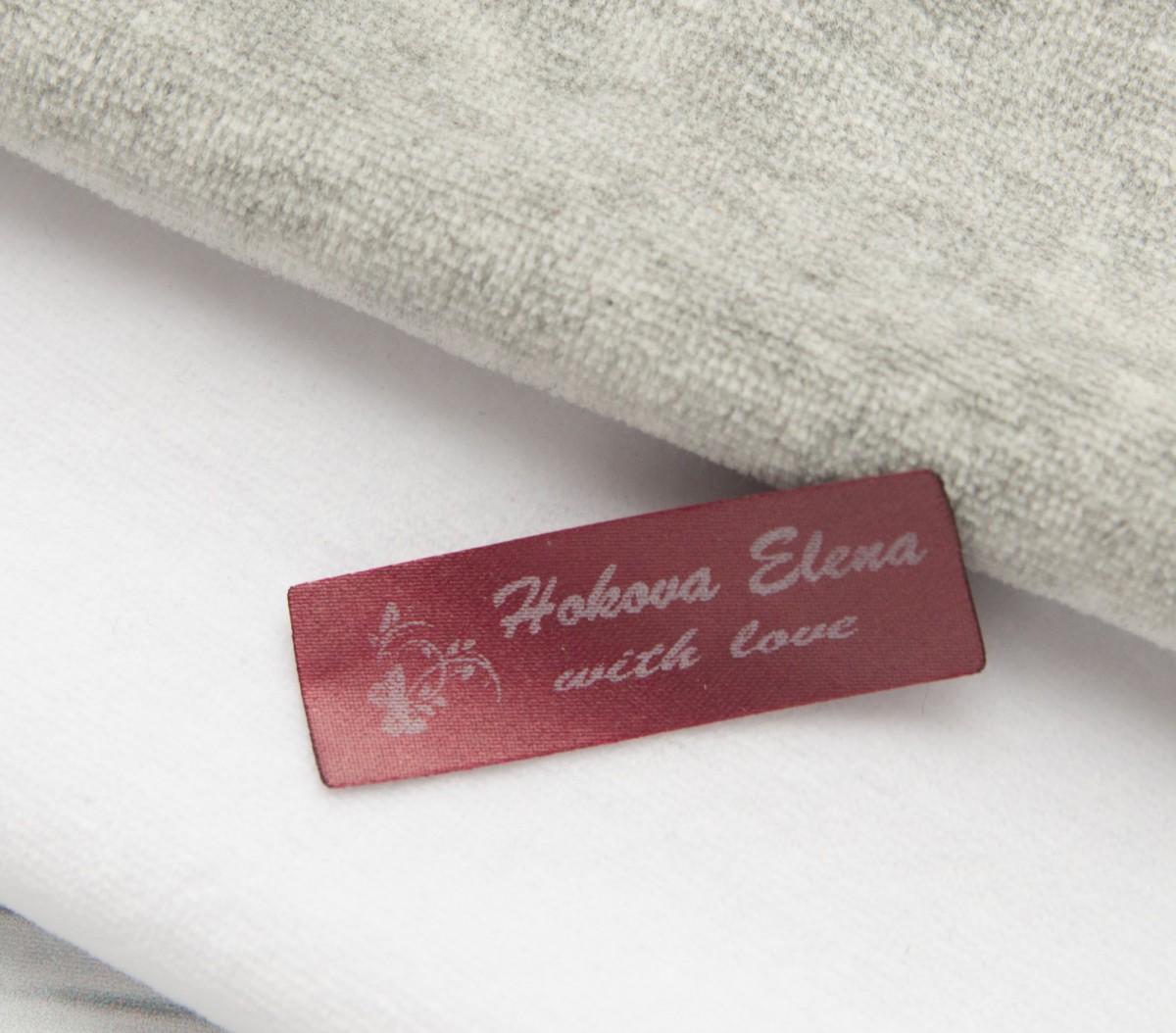 Лента сатин цветная+белый 15мм/500шт (3,8 руб/шт.)